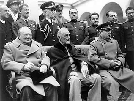 Churchill, Roosevelt, Stalin